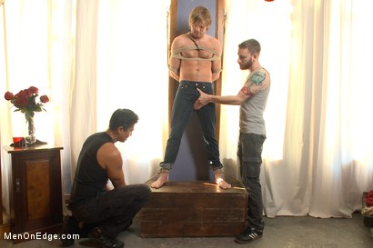 Photo number 1 from Blond surfer dude gets edged in bondage for the first time shot for Men On Edge on Kink.com. Featuring Morgan Shades in hardcore BDSM & Fetish porn.