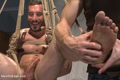 Photo number 6 from Edging a hot cop in a public restroom shot for Men On Edge on Kink.com. Featuring Mike Gaite in hardcore BDSM & Fetish porn.