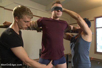 Photo number 1 from Brand new straight stud gets his hard cock edged shot for Men On Edge on Kink.com. Featuring Owen Michaels in hardcore BDSM & Fetish porn.