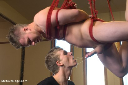 Photo number 8 from Brand new straight stud gets his hard cock edged shot for Men On Edge on Kink.com. Featuring Owen Michaels in hardcore BDSM & Fetish porn.