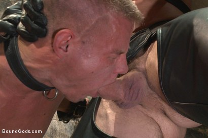 Photo number 4 from House dom Trenton Ducati brutally fucks the new slave boy  shot for Bound Gods on Kink.com. Featuring Trenton Ducati and Joseph Rough in hardcore BDSM & Fetish porn.