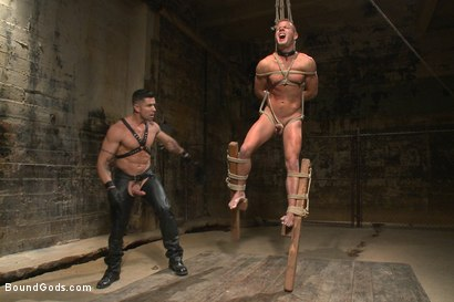 Photo number 7 from House dom Trenton Ducati brutally fucks the new slave boy  shot for Bound Gods on Kink.com. Featuring Trenton Ducati and Joseph Rough in hardcore BDSM & Fetish porn.