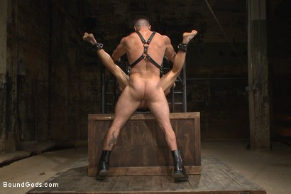 Photo number 11 from House dom Trenton Ducati brutally fucks the new slave boy  shot for Bound Gods on Kink.com. Featuring Trenton Ducati and Joseph Rough in hardcore BDSM & Fetish porn.