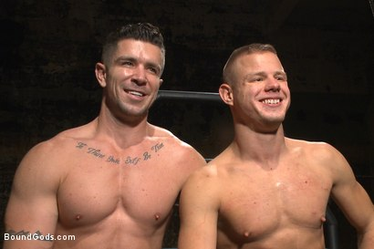 Photo number 15 from House dom Trenton Ducati brutally fucks the new slave boy  shot for Bound Gods on Kink.com. Featuring Trenton Ducati and Joseph Rough in hardcore BDSM & Fetish porn.