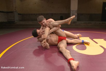 """Photo number 2 from Mikoah """"The Killer"""" Kan vs Conner """"The Crippler"""" Halsted  shot for Naked Kombat on Kink.com. Featuring Connor Halsted and Mikoah Kan in hardcore BDSM & Fetish porn."""