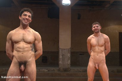 """Photo number 15 from Mikoah """"The Killer"""" Kan vs Conner """"The Crippler"""" Halsted  shot for Naked Kombat on Kink.com. Featuring Connor Halsted and Mikoah Kan in hardcore BDSM & Fetish porn."""