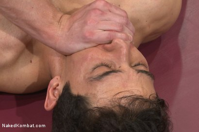 """Photo number 12 from Mikoah """"The Killer"""" Kan vs Conner """"The Crippler"""" Halsted  shot for Naked Kombat on Kink.com. Featuring Connor Halsted and Mikoah Kan in hardcore BDSM & Fetish porn."""