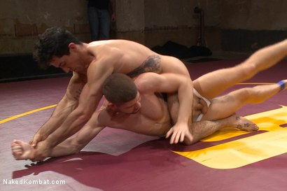 "Photo number 7 from Mikoah ""The Killer"" Kan vs Conner ""The Crippler"" Halsted  shot for Naked Kombat on Kink.com. Featuring Connor Halsted and Mikoah Kan in hardcore BDSM & Fetish porn."