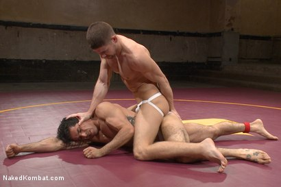 """Photo number 3 from Mikoah """"The Killer"""" Kan vs Conner """"The Crippler"""" Halsted  shot for Naked Kombat on Kink.com. Featuring Connor Halsted and Mikoah Kan in hardcore BDSM & Fetish porn."""