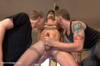 Photo number 8 from Edging Two Studs! shot for Men On Edge on Kink.com. Featuring Anthony Verusso and Branden Forrest in hardcore BDSM & Fetish porn.