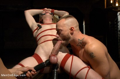 Photo number 14 from Edging Two Studs! shot for Men On Edge on Kink.com. Featuring Anthony Verusso and Branden Forrest in hardcore BDSM & Fetish porn.