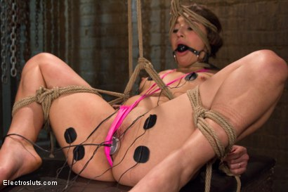 Photo number 15 from Hot Slut Gets Electrofucked for Her 19th Birthday! shot for Electro Sluts on Kink.com. Featuring Abella Danger and Chanel Preston in hardcore BDSM & Fetish porn.