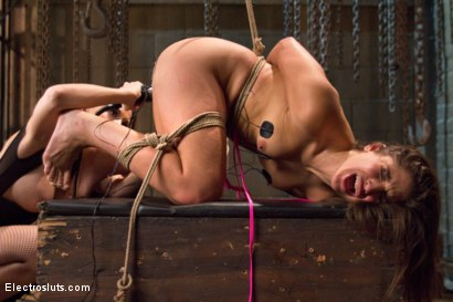 Photo number 19 from Hot Slut Gets Electrofucked for Her 19th Birthday! shot for Electro Sluts on Kink.com. Featuring Abella Danger and Chanel Preston in hardcore BDSM & Fetish porn.