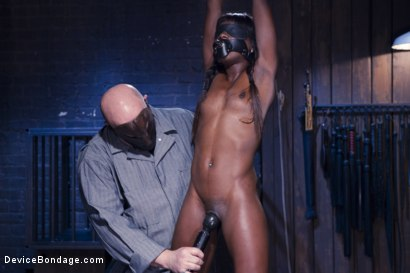 Photo number 8 from Full Throttle - Ebony Babe Suffers Beautifully shot for Device Bondage on Kink.com. Featuring Ana Foxxx and Sgt. Major in hardcore BDSM & Fetish porn.