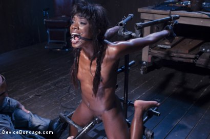 Photo number 14 from Full Throttle - Ebony Babe Suffers Beautifully shot for Device Bondage on Kink.com. Featuring Ana Foxxx and Sgt. Major in hardcore BDSM & Fetish porn.
