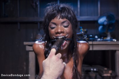 Photo number 3 from Full Throttle - Ebony Babe Suffers Beautifully shot for Device Bondage on Kink.com. Featuring Ana Foxxx and Sgt. Major in hardcore BDSM & Fetish porn.