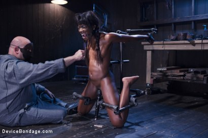 Photo number 5 from Full Throttle - Ebony Babe Suffers Beautifully shot for Device Bondage on Kink.com. Featuring Ana Foxxx and Sgt. Major in hardcore BDSM & Fetish porn.