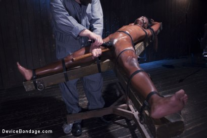 Photo number 6 from Full Throttle - Ebony Babe Suffers Beautifully shot for Device Bondage on Kink.com. Featuring Ana Foxxx and Sgt. Major in hardcore BDSM & Fetish porn.