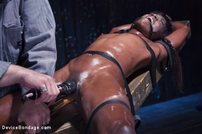 Photo number 7 from Full Throttle - Ebony Babe Suffers Beautifully shot for Device Bondage on Kink.com. Featuring Ana Foxxx and Sgt. Major in hardcore BDSM & Fetish porn.