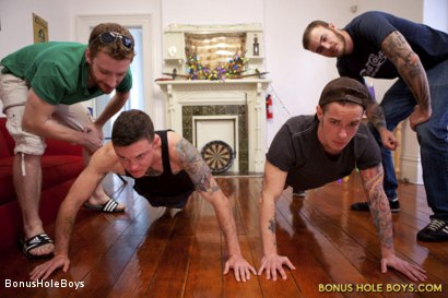 Photo number 2 from FTM Frat Hazing  shot for Bonus Hole Boys on Kink.com. Featuring Christian Wilde, Sebastian Keys, Cyd St. Vincent and Kipp Slinger in hardcore BDSM & Fetish porn.