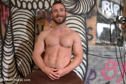 Photo number 15 from Muscled mechanic, bound, fucked from both ends, and doused with cum shot for Bound in Public on Kink.com. Featuring Dylan Strokes and Mike Gaite in hardcore BDSM & Fetish porn.