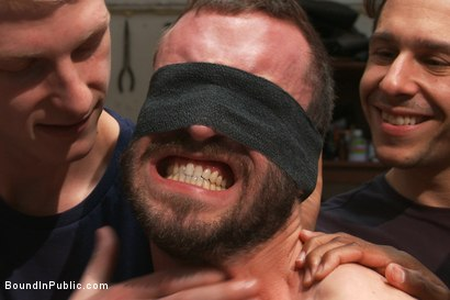 Photo number 8 from Muscled mechanic, bound, fucked from both ends, and doused with cum shot for Bound in Public on Kink.com. Featuring Dylan Strokes and Mike Gaite in hardcore BDSM & Fetish porn.