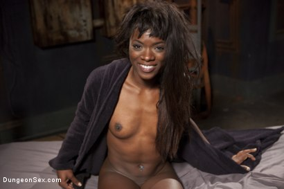 Photo number 1 from Ebony Submissive Fucked in Tight Bondage shot for Dungeon Sex on Kink.com. Featuring Ana Foxxx and Derrick Pierce in hardcore BDSM & Fetish porn.