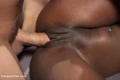 Photo number 14 from Ebony Submissive Fucked in Tight Bondage shot for Dungeon Sex on Kink.com. Featuring Ana Foxxx and Derrick Pierce in hardcore BDSM & Fetish porn.