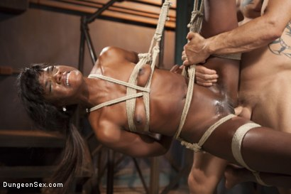Photo number 8 from Ebony Submissive Fucked in Tight Bondage shot for Brutal Sessions on Kink.com. Featuring Ana Foxxx and Derrick Pierce in hardcore BDSM & Fetish porn.