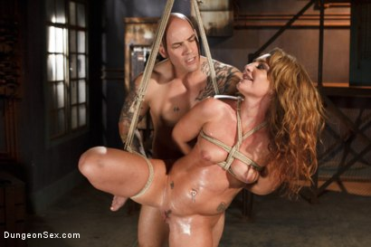 Photo number 15 from Squirting Bondage Sex!! shot for Dungeon Sex on Kink.com. Featuring Derrick Pierce and Savannah Fox in hardcore BDSM & Fetish porn.