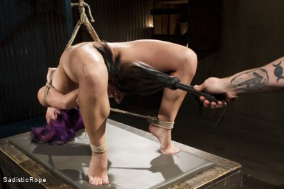 Photo number 13 from Day of Reckoning  shot for Sadistic Rope on Kink.com. Featuring Kristina Rose in hardcore BDSM & Fetish porn.