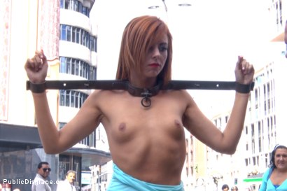 Photo number 5 from Gorgeous spanish model Bianca Resa is bound in Madrid shot for Public Disgrace on Kink.com. Featuring Rob Diesel, Steve Holmes and Bianca Resa in hardcore BDSM & Fetish porn.