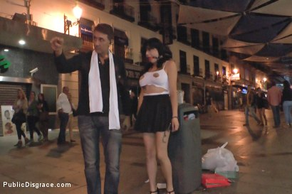 Photo number 1 from Sexy whore Damaris humiliated in public shot for Public Disgrace on Kink.com. Featuring Steve Holmes and Damaris in hardcore BDSM & Fetish porn.