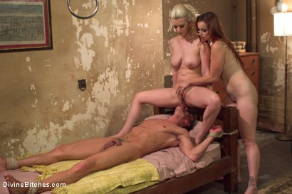 Photo number 15 from Hottest FemDom Sex Ever Filmed. shot for Divine Bitches on Kink.com. Featuring Bella Rossi, Cherry Torn and Alexander Gustavo in hardcore BDSM & Fetish porn.