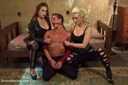Photo number 1 from Hottest FemDom Sex Ever Filmed. shot for Divine Bitches on Kink.com. Featuring Bella Rossi, Cherry Torn and Alexander Gustavo in hardcore BDSM & Fetish porn.