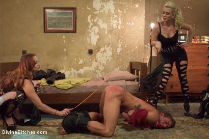 Photo number 3 from Hottest FemDom Sex Ever Filmed. shot for Divine Bitches on Kink.com. Featuring Bella Rossi, Cherry Torn and Alexander Gustavo in hardcore BDSM & Fetish porn.