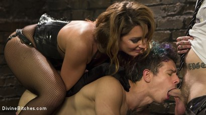 Photo number 12 from A Cuckold On Their Anniversary shot for Divine Bitches on Kink.com. Featuring Savannah Fox, Ruckus and Corbin Dallas in hardcore BDSM & Fetish porn.