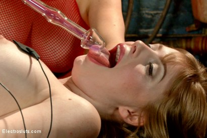 Photo number 13 from Brand New Model Has a Filthy Secret! shot for Electro Sluts on Kink.com. Featuring Aiden Starr and Dolly Leigh in hardcore BDSM & Fetish porn.
