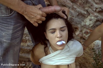 Photo number 25 from Sexy Spanish Slut Chiara fully exposed on the streets of Madrid shot for Public Disgrace on Kink.com. Featuring Chiara Diletto, Princess Donna Dolore and Steve Holmes in hardcore BDSM & Fetish porn.