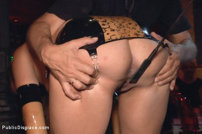 Photo number 7 from Saucy Spanish Slut Dragged Around the Streets of Madrid shot for Public Disgrace on Kink.com. Featuring Camil Core, Sandra Romain and Steve Holmes in hardcore BDSM & Fetish porn.