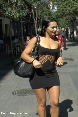 Photo number 20 from Redheaded slut beautifully disgraced on streets of Madrid shot for Public Disgrace on Kink.com. Featuring Lilyan Red, Sandra Romain and Steve Holmes in hardcore BDSM & Fetish porn.