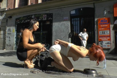 Photo number 6 from Redheaded slut beautifully disgraced on streets of Madrid shot for Public Disgrace on Kink.com. Featuring Lilyan Red, Sandra Romain and Steve Holmes in hardcore BDSM & Fetish porn.
