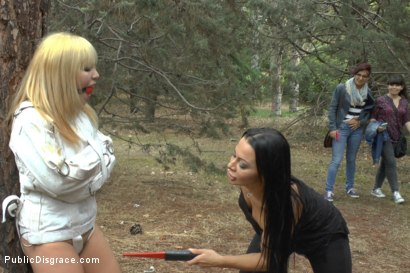 Photo number 8 from Japanese Slut is humiliated and put on display in Madrid shot for Public Disgrace on Kink.com. Featuring Mitsuki Sweet, Sandra Romain and Steve Holmes in hardcore BDSM & Fetish porn.