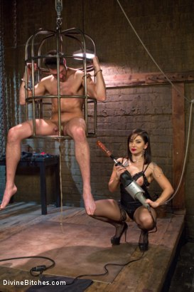 Photo number 4 from Oiled Ass Worship and Power Tools shot for Divine Bitches on Kink.com. Featuring Abel Archer and Lea Lexis in hardcore BDSM & Fetish porn.