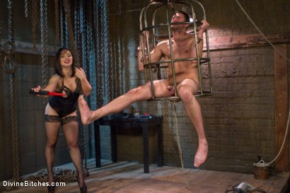Photo number 6 from Oiled Ass Worship and Power Tools shot for Divine Bitches on Kink.com. Featuring Abel Archer and Lea Lexis in hardcore BDSM & Fetish porn.