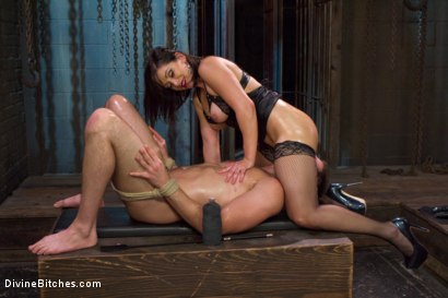 Photo number 9 from Oiled Ass Worship and Power Tools shot for Divine Bitches on Kink.com. Featuring Abel Archer and Lea Lexis in hardcore BDSM & Fetish porn.