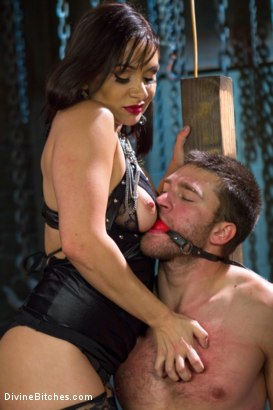 Photo number 12 from Oiled Ass Worship and Power Tools shot for Divine Bitches on Kink.com. Featuring Abel Archer and Lea Lexis in hardcore BDSM & Fetish porn.