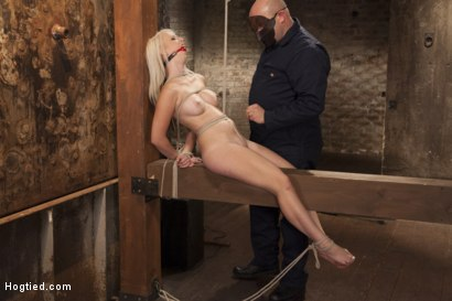 Photo number 14 from All Natural Darci Belle First Time Bound shot for Hogtied on Kink.com. Featuring Sgt. Major and Darcie Belle in hardcore BDSM & Fetish porn.