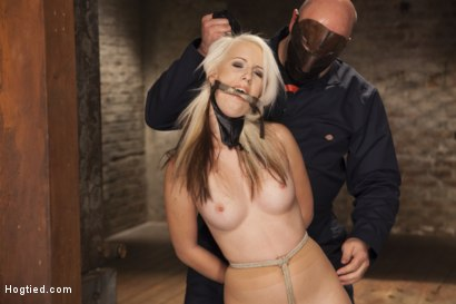 Photo number 6 from All Natural Darci Belle First Time Bound shot for Hogtied on Kink.com. Featuring Sgt. Major and Darcie Belle in hardcore BDSM & Fetish porn.