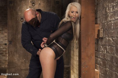 Photo number 4 from All Natural Darci Belle First Time Bound shot for Hogtied on Kink.com. Featuring Sgt. Major and Darcie Belle in hardcore BDSM & Fetish porn.